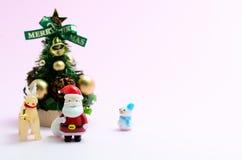 julen föreställde treen Royaltyfria Bilder
