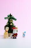 julen föreställde treen Arkivfoto