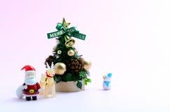 julen föreställde treen Arkivbilder