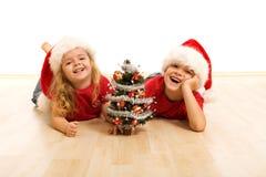 julen floor lycklig ungetid Royaltyfri Foto