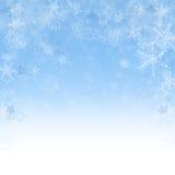 Julen görar sammandrag bakgrund med snowflakes Royaltyfri Bild