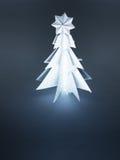 julen gjorde den paper treen Royaltyfri Bild