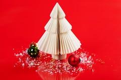 julen gjorde den paper treen Fotografering för Bildbyråer