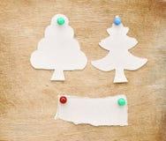 julen gjorde den papper rivna treen Royaltyfria Bilder