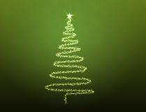 julen illustrerade treen stock illustrationer