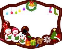 julen inramniner glatt stock illustrationer