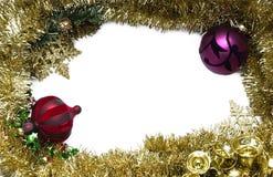 julen inramniner guld- Fotografering för Bildbyråer