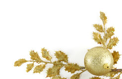 julen inramniner guld- Royaltyfria Foton