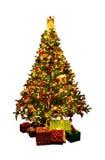 julen isolerade treen Royaltyfri Fotografi