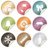 julen isolerade xmas för etiketter för etikettseten vit Royaltyfria Bilder