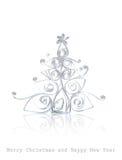 julen klippte det handgjorda kontoret ut paper treen Royaltyfri Foto