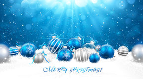 Julen klumpa ihop sig i snow Royaltyfri Bild