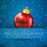 Julen klumpa ihop sig kortet med snow och kopierar fritt utrymme Royaltyfri Foto