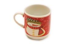 Julen kuper av kaffe Arkivbilder