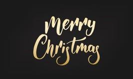 julen märker glatt Guld- märka klistermärkeemblem royaltyfri illustrationer