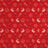 julen mönsan rött seamless Royaltyfria Bilder