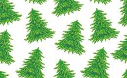 julen mönsan seamless trees Fotografering för Bildbyråer