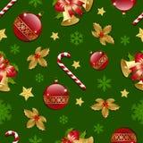 julen mönsan seamless Fotografering för Bildbyråer