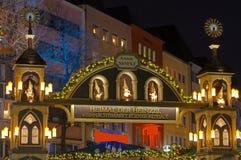 Julen market i Cologne gammala town Arkivbilder