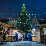 Julen market i Tallinn Royaltyfri Fotografi