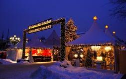 Julen marknadsför i Berlin fotografering för bildbyråer