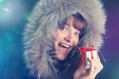 julen någon den strumpor görade randig överrrakningen trippar till treexmas Fotografering för Bildbyråer