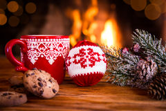 Julen near spis Arkivbild
