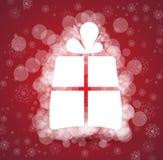 Julen och den lyckliga gåvan för nytt år box bakgrund Royaltyfri Foto