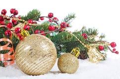 Julen och det nya året gränsar Royaltyfri Fotografi