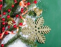 Julen och det nya året gränsar Arkivfoto