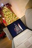 julen returnerar shopping arkivbild