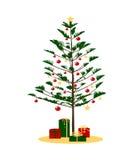 julen sörjer treen Fotografering för Bildbyråer