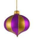 julen smyckar den purpura treen Royaltyfria Foton