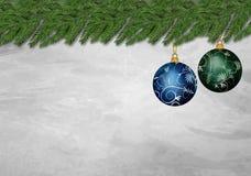 julen smyckar två Royaltyfri Bild