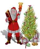 julen som gåvor ger, inviterar santa till Arkivfoto