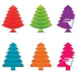 julen ställde in trees royaltyfri illustrationer