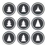 julen ställde in trees Arkivfoton