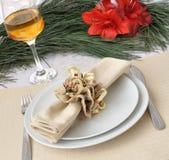 julen stänger den nya tabellen upp år Royaltyfri Foto
