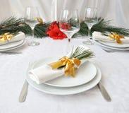 julen stänger den nya tabellen upp år Fotografering för Bildbyråer