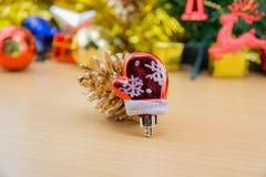 julen stänger nytt övre år för garneringar Royaltyfri Bild