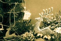 julen stänger nytt övre år för garneringar Fotografering för Bildbyråer