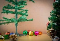 julen stänger nytt övre år för garneringar Royaltyfria Bilder