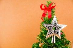 julen stänger nytt övre år för garneringar Royaltyfri Fotografi