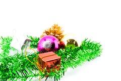 julen stänger nytt övre år för garneringar Royaltyfri Foto