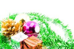 julen stänger nytt övre år för garneringar Arkivbilder