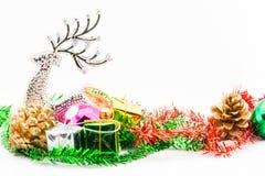 julen stänger nytt övre år för garneringar Arkivfoton