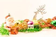 julen stänger nytt övre år för garneringar Arkivbild