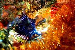 julen stänger upp garneringen Arkivfoton