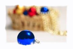 julen stänger upp spheretreen Arkivbilder