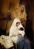 julen strömförande julkrubban Arkivbild